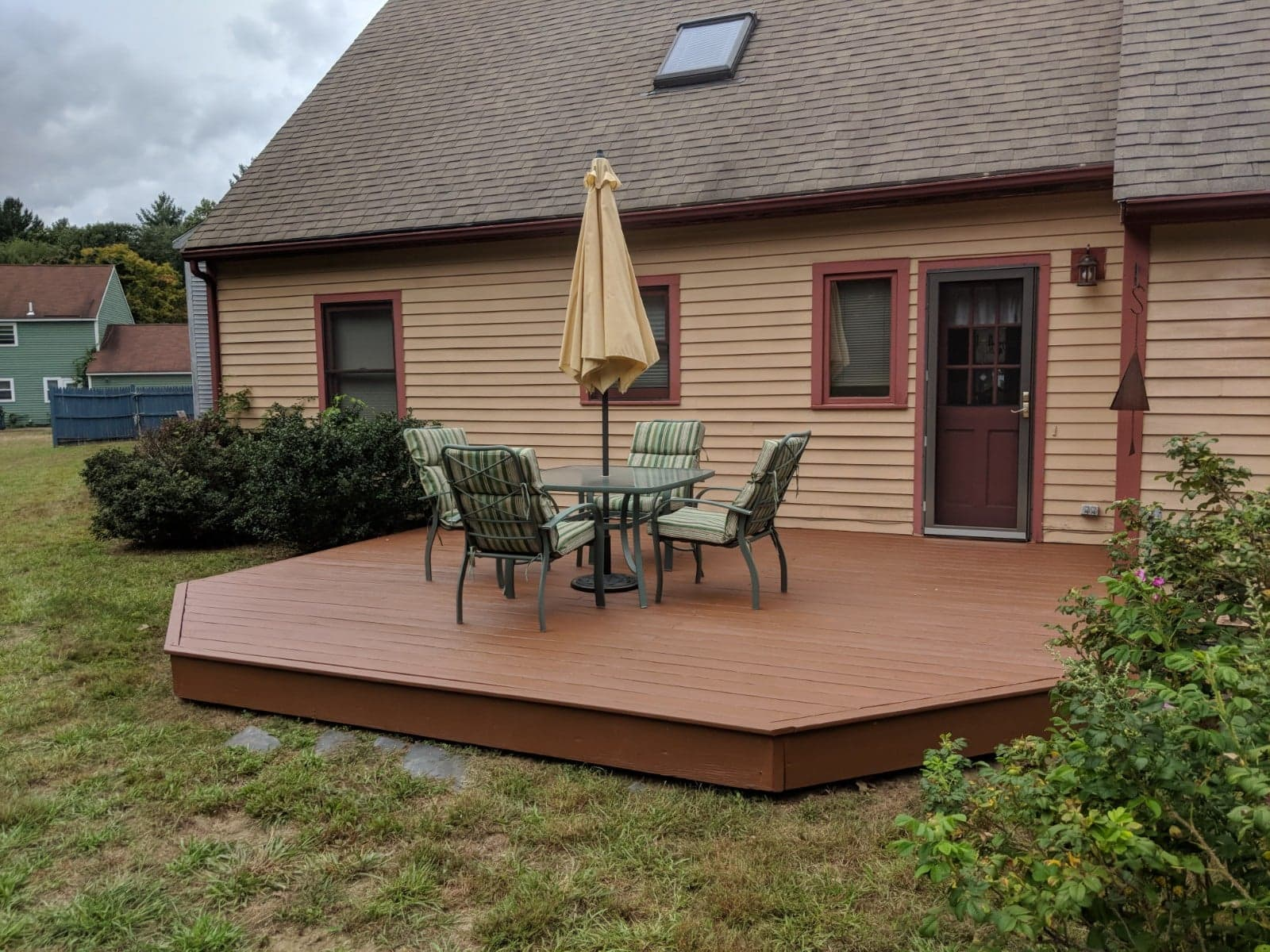 handyman services after applying new deck stain